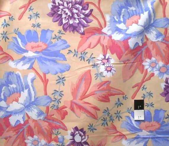 Kaffe Fassett GP108 Rustic Floral Sand Cotton Fabric 1 Yd
