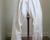 SALE Antique Edwardian Victorian White Cotton Bloomer Britches.