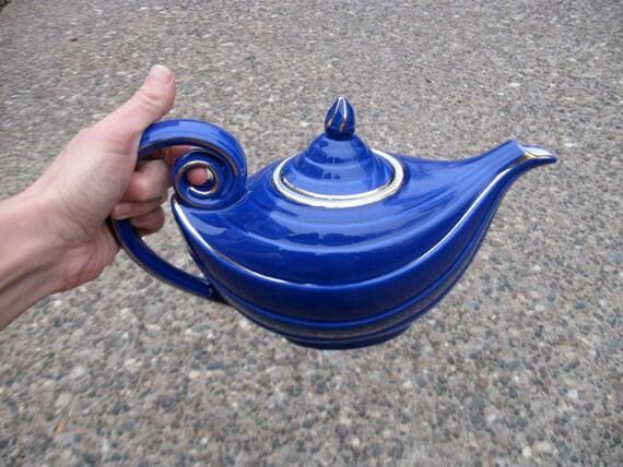 RESERVED 1930s Hall Cobalt Aladdin Teapot.