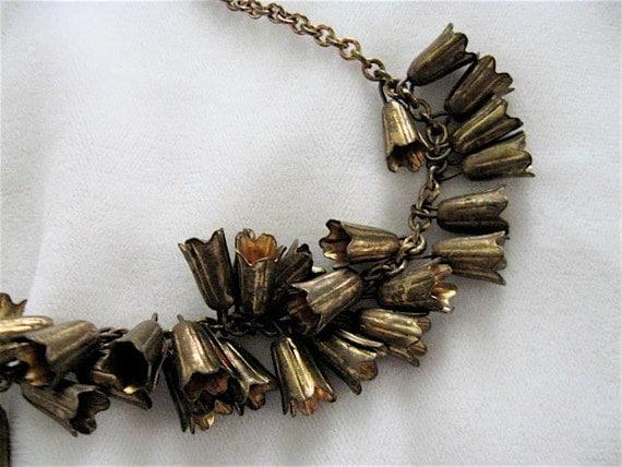 1930s Brass Bells Necklace.
