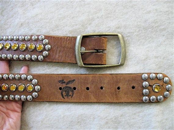RESERVED 1950s Studded Leather Biker Belt.