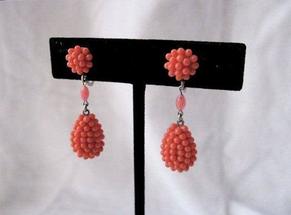 1930s Celluloid Berry Earrings.