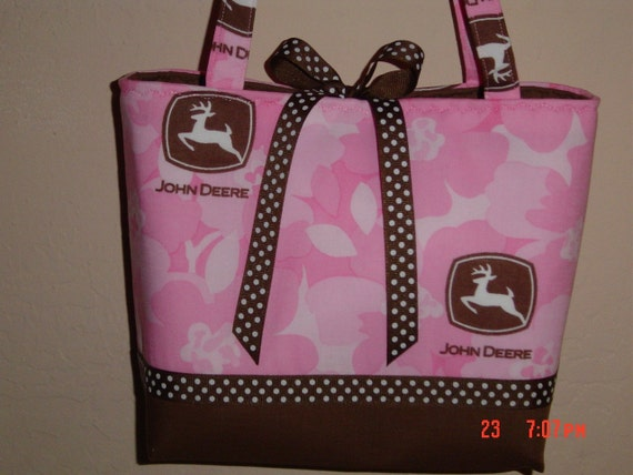John Deere Pink CAMO Camouflage Purse Bag Handbag