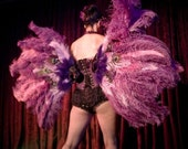 Custom Set of Ostrich Feather Fans for Show Girls and Burlesque Stars Perfectly Constructed Great for Spinning