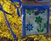 Natures Dance - HEMP and Organic Cotton - Hand Dyed Gypsy Hip Bag - Apron - Utility Belt - Ecofriendly Hippie Adjustable Wrap Pocket