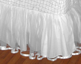 KING Size or California King Size TULLE Bedskirt - Select your Color