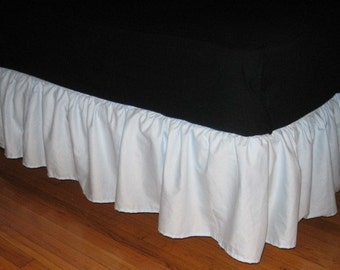 Twin Size Cotton RUFFLED Bed skirt