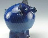 Blue Gloss Piggy Bank
