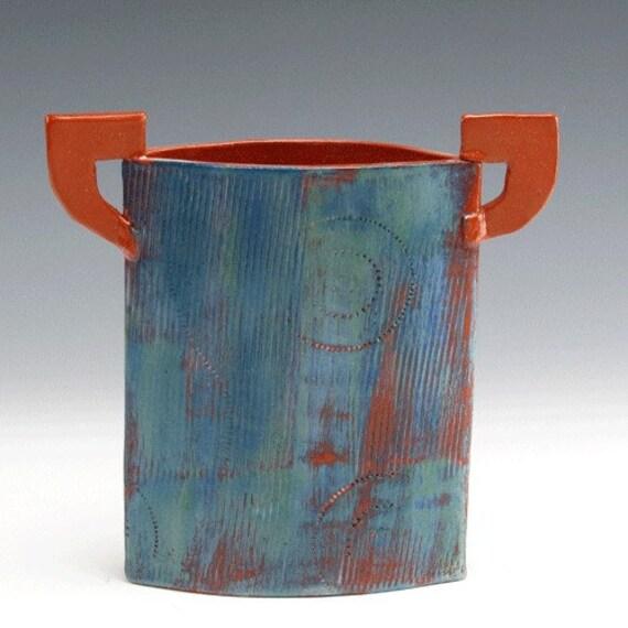 Blue Green Stilt Vase