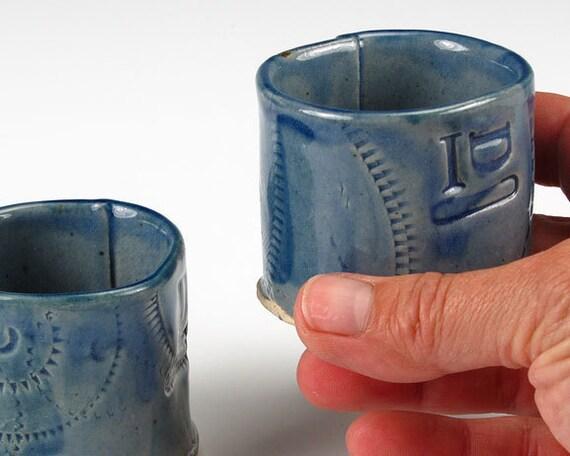 Blue IDC Liquor Cups