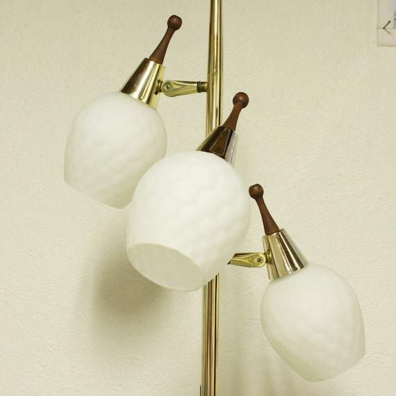 vintage floor lamp glass shades 4 way switch adjustable lights. Black Bedroom Furniture Sets. Home Design Ideas