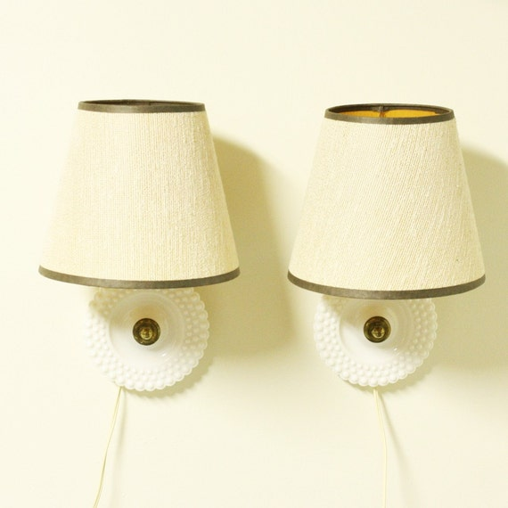 Wall Mount Lamp With Shade : Vintage bedside lamp bedside light wall mount by OldCottonwood