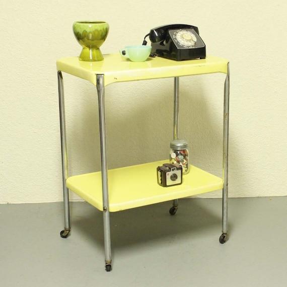 metal cart serving cart kitchen cart cosco butter yellow