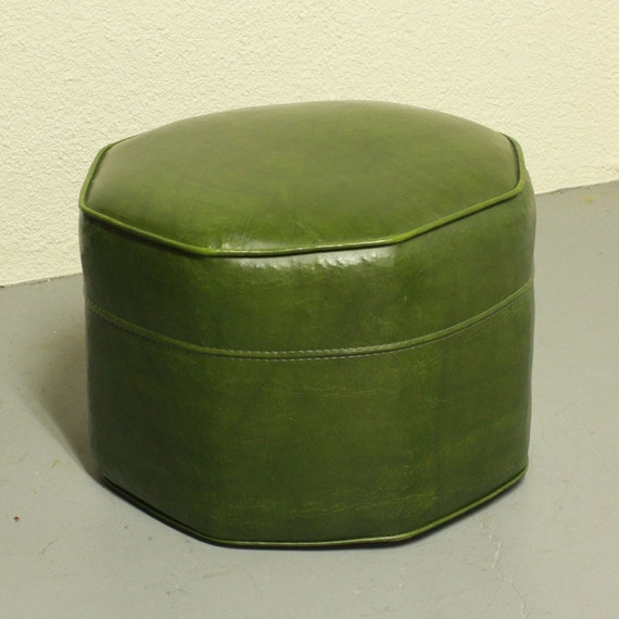 Vintage Foot Stool Hassock Ottoman Footrest By Oldcottonwood
