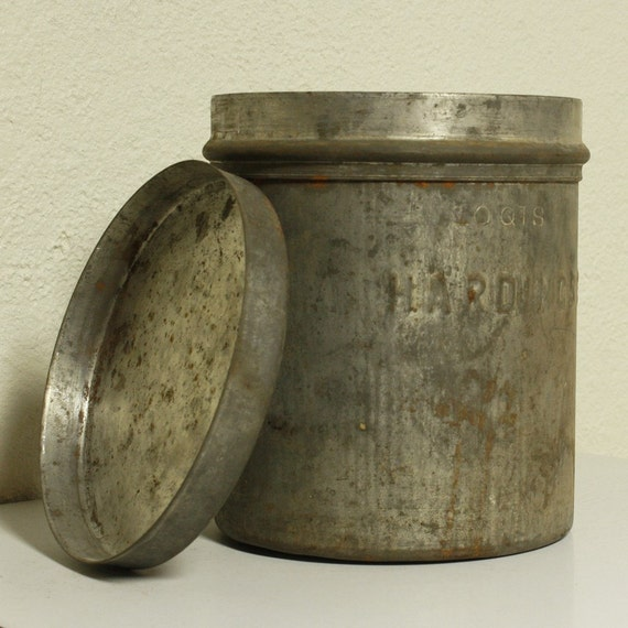 Vintage Ice Cream Container Dairy Container Metal
