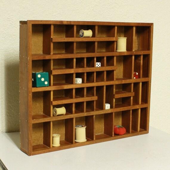 Vintage Wood Shadow Box Shelf Trinket Box Knick Knack
