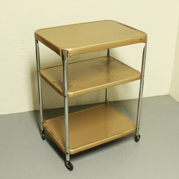 Vintage Metal Cart Serving Cart Kitchen Cart Cosco
