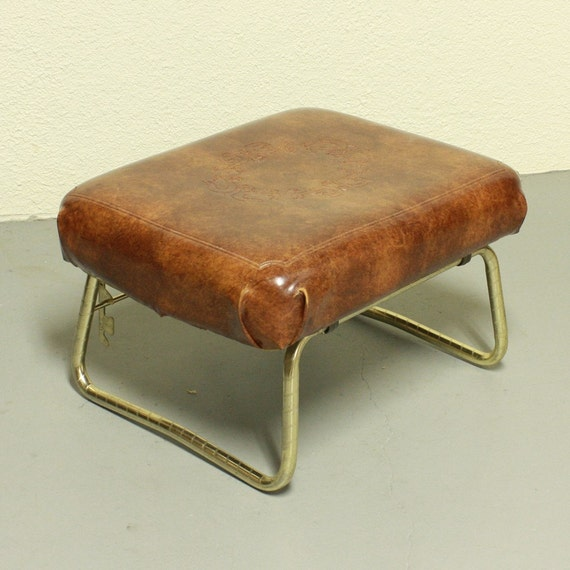 Vintage Foot Stool Foot Rest Leg Lounger Pearl By