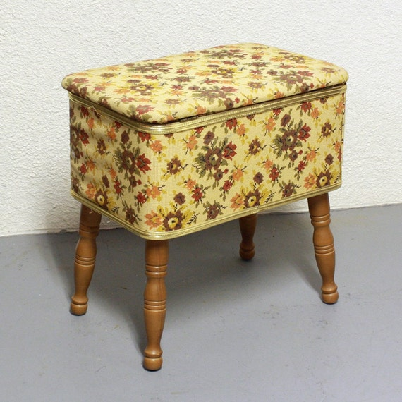 Vintage Sewing Seat Sewing Stool Sewing Storage By