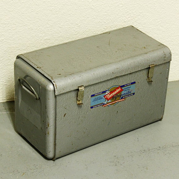 Vintage cooler - Thermaster - ice chest - metal - silver/gray