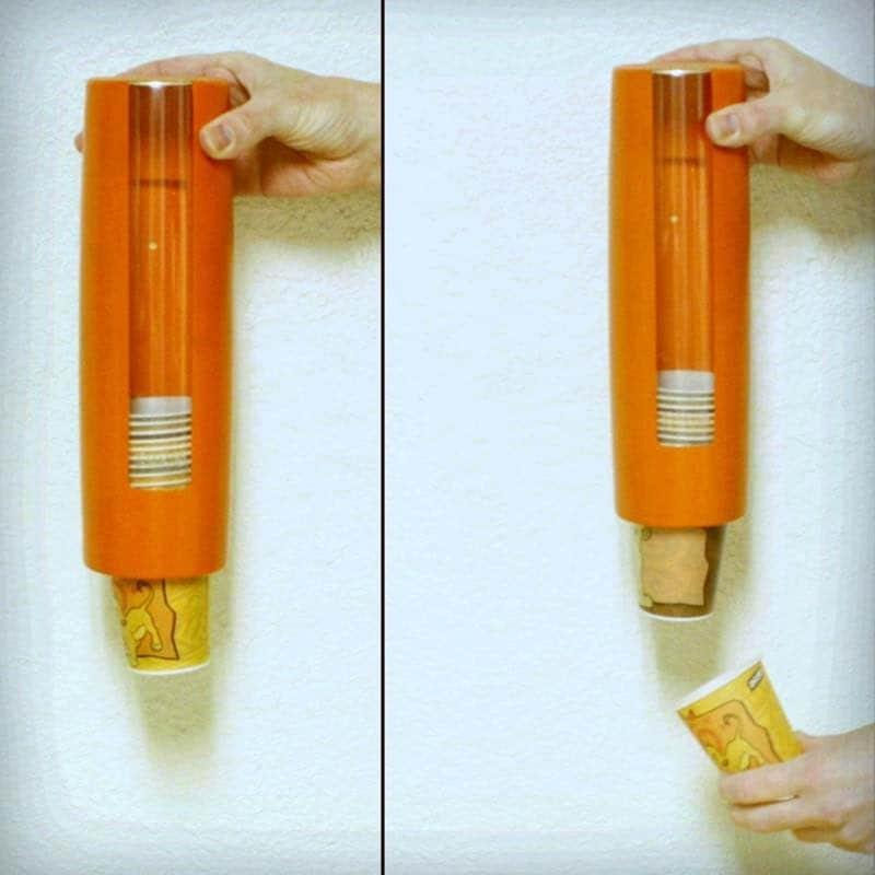 Vintage Dixie Cup Dispenser Orange By Oldcottonwood On Etsy