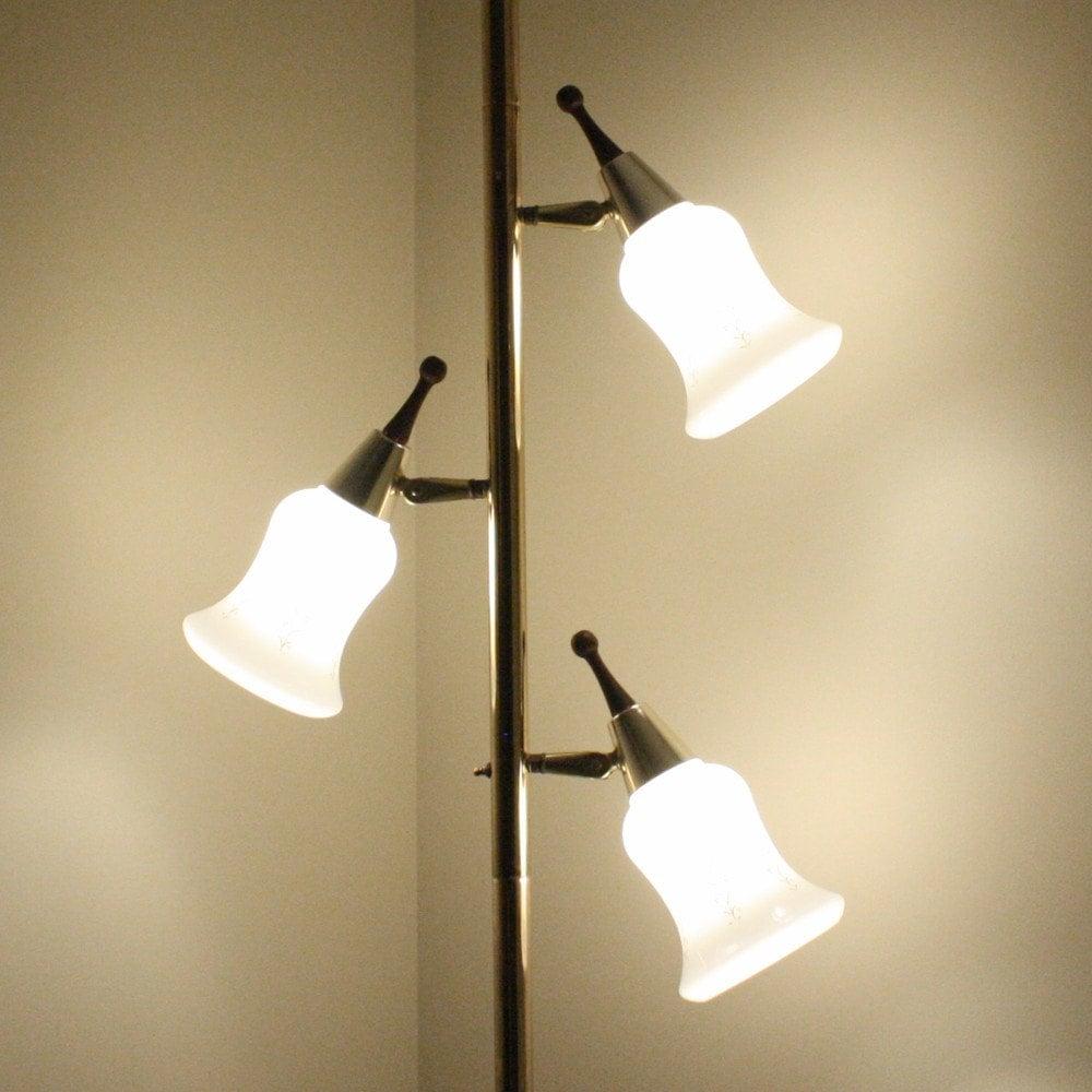 Vintage pole lamp tension lamp floor to ceiling by oldcottonwood
