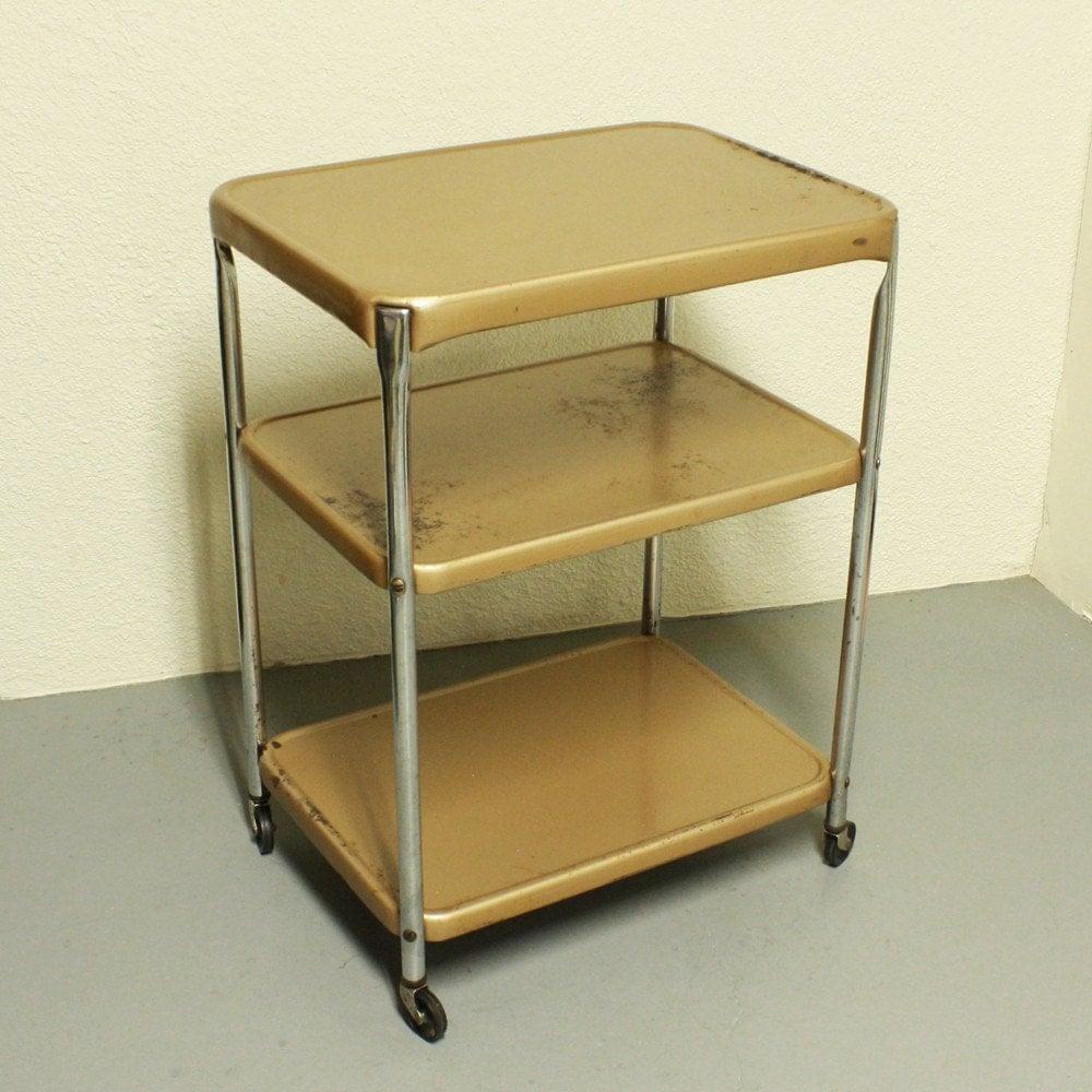 Urban Metal Kitchen Cart: Vintage Metal Cart Serving Cart Kitchen Cart Cosco