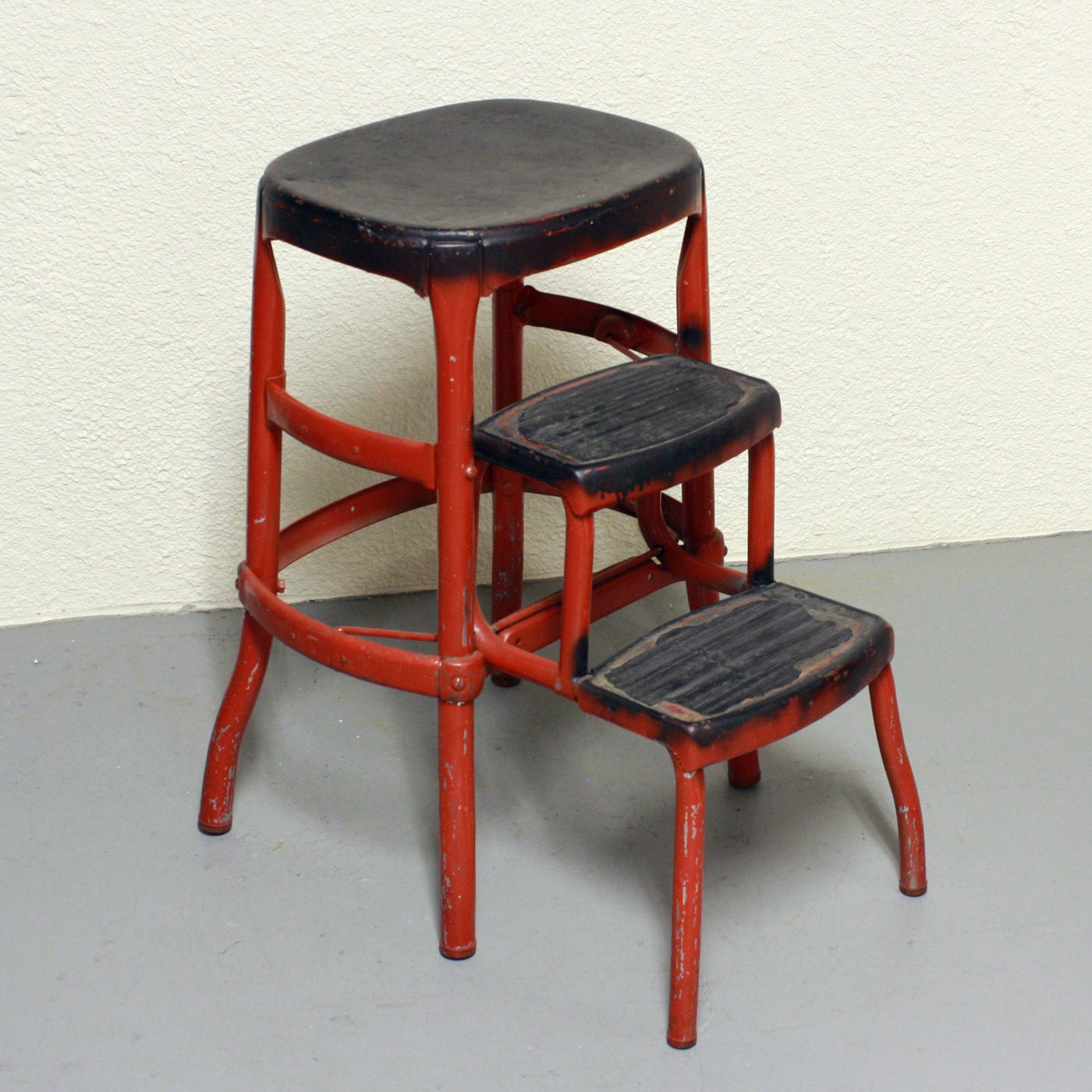Antique Kitchen Step Stool Chair