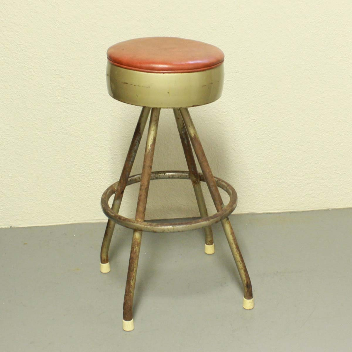 Vintage Stool Metal Seat Bar Stool Swivel Vitro