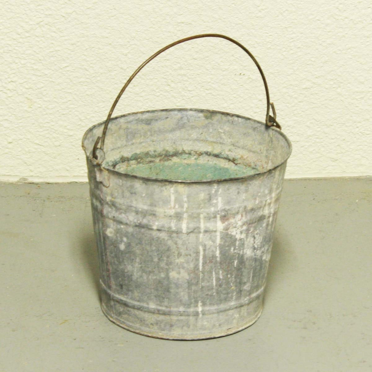 vintage metal bucket pail milk bucket galvanized holes