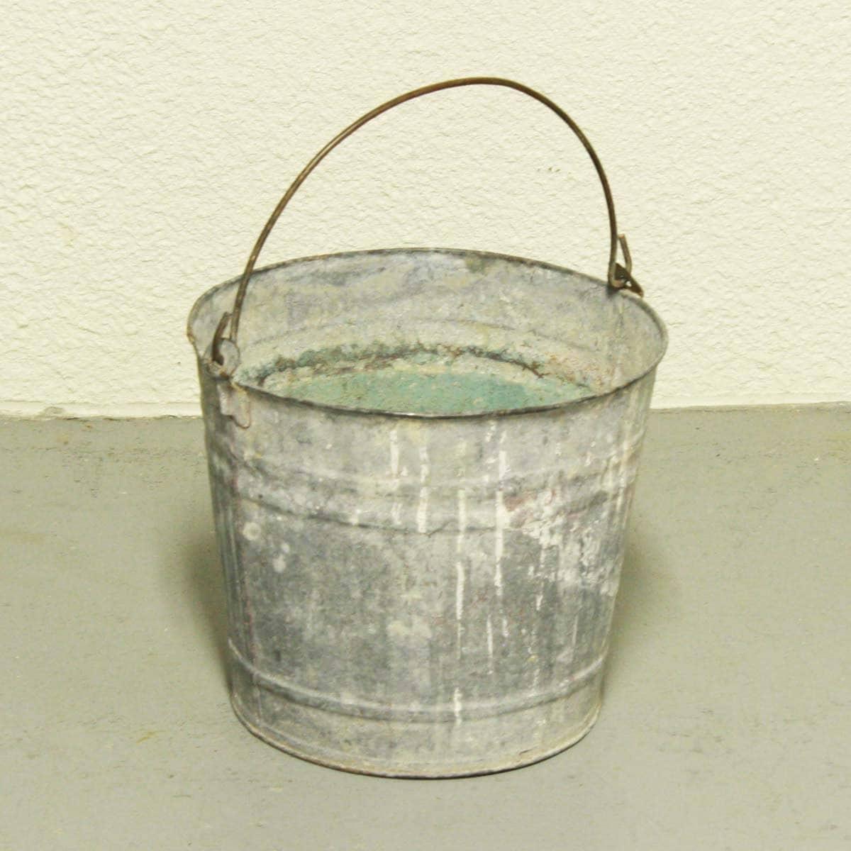 vintage metal bucket pail milk bucket galvanized holes ForOld Metal Buckets