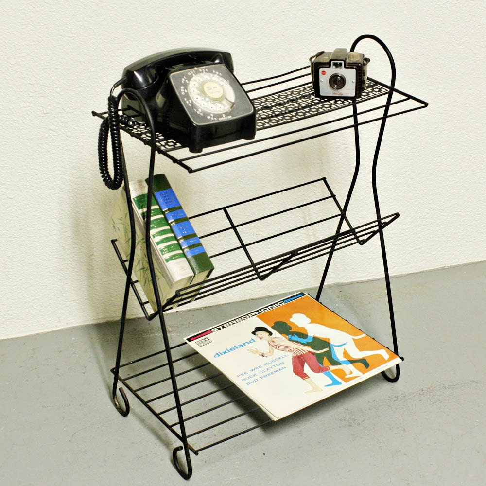 Vintage Stand Telephone Stand Magazine Stand By Oldcottonwood