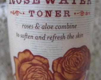 organic rosewater toner 3.3oz