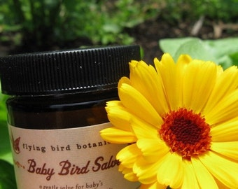 0228 2oz baby bird salve, organic salve for babies and families