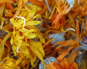 0236 organic calendula flowers hand harvested and dried 1oz