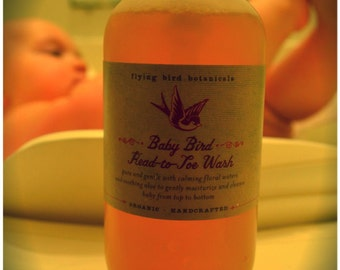 0226 16 oz baby bird head-to-toe wash family size