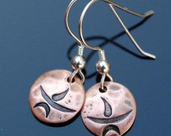 FAST* Unitarian Universalist Chalice Copper Earrings - Small