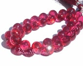 AAA Pomegranate Pink Quartz Faceted Onion Shaped Briolettes Half Strand 3.5 Inches 9 - 10mm approx