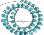APATITE FINE QUALITY FACETED DROP BRIOLETTES - BEAUTIFUL SHADE, GREAT DEAL