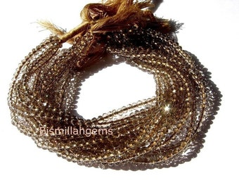 AAA Mystic Brown Quartz faceted rondelles 3mm 14 inches