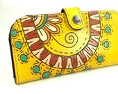 Wallet Leather - Happy yellow in summer