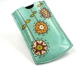 Leather Case iPhone iTouch  iPod Blackberry Sony ericsson Nokia Sumsung - Blue Sky On the Happily day