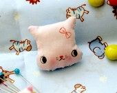 Tiny Pink Kitten Brooch Plush