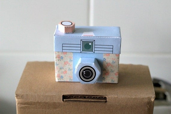 PRINTABLE - 4 cute cameras - PAPER CRAFT Project