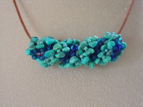 Turquoise Nugget Slide necklace