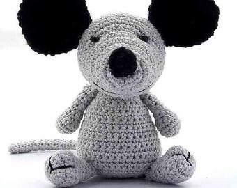 mouse cheeshu, crochet amigurumi, PDF Pattern by Katja Heinlein animal figure tutorial