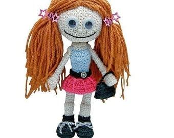 Gill Girlie by Katja Heinlein, crochet pattern, pdf tutorial, amigurumi girl by Katja Heinlein doll file girl dolly maid ebook human people