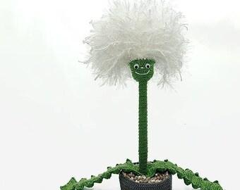 Buddy Blowball, PDF Pattern, Flower Figure, dandylion tutorial by Katja Heinlein crochet file digital