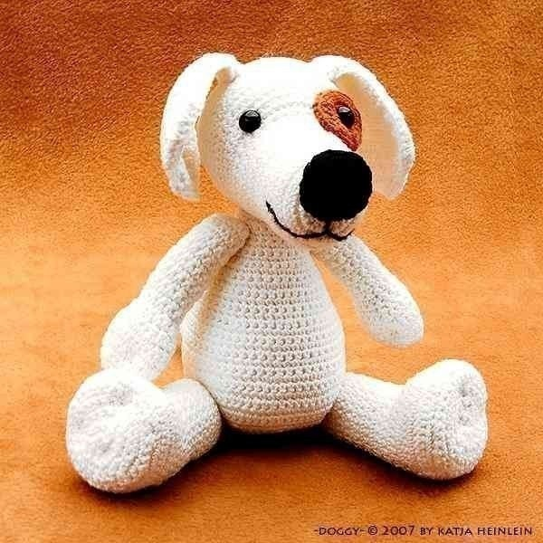 Amigurumi Dog Pattern : dog Doggy crochet PDF Pattern amigurumi tutorial animal