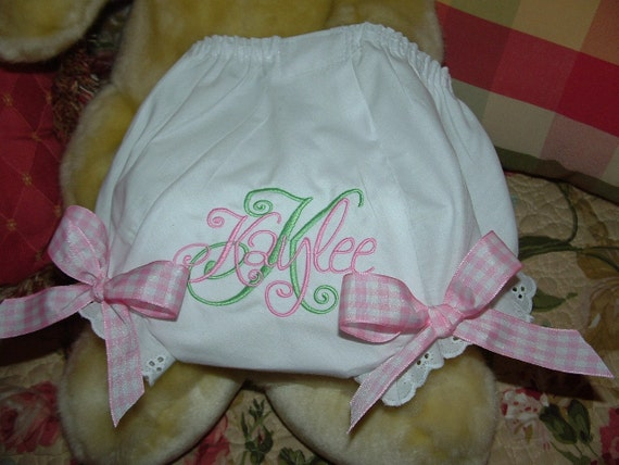 Girls personalized fancy panties diaper cover with by mollyandmom